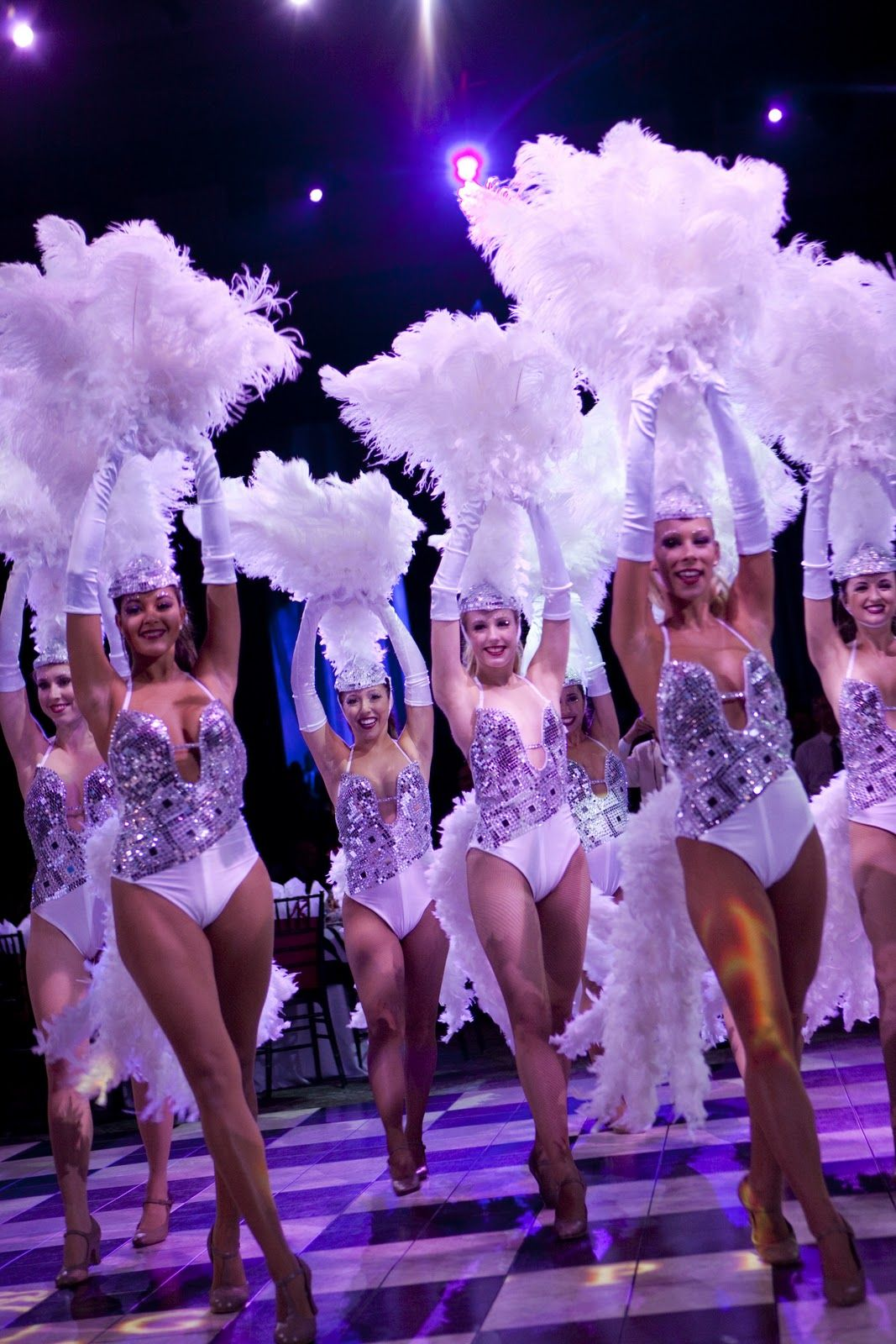 Las Vegas Style Showgirls for Las Vegas theme party.